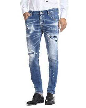 DSQUARED2 - Skater Skinny Fit Jean in Blue