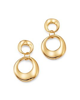 Bloomingdale's - Double Circle Drop Earrings in 14K Yellow Gold - 100% Exclusive
