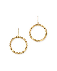 Bloomingdale's - Beaded Hoop Earrings in 14K Yellow Gold - 100% Exclusive