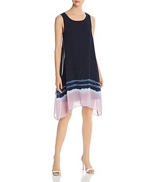Donna Karan Dresses NEW YORK SLEEVELESS TIE-DYE-HEM SHIFT DRESS