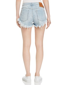 One Teaspoon - Brandos Frayed Denim Shorts in Hustler