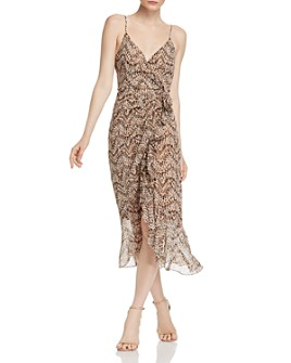 Bardot - Ellie Animal-Print Faux-Wrap Dress