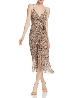 Bardot - Ellie Animal-Print Faux-Wrap Dress