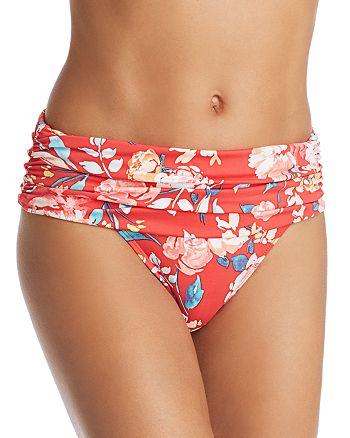Ralph Lauren - Bright Floral Wide Shirred Band Bikini Bottom