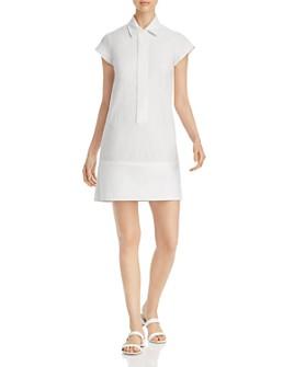 SNIDER - Victor Mixed-Media Shirt Dress