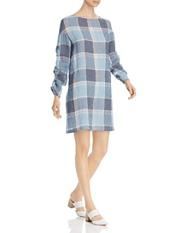SNIDER - Côte d'Azur Textured Plaid Dress