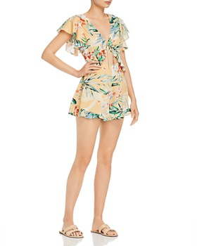Finders Keepers - Paradise Floral Tie-Front Romper