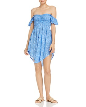 Tiare Hawaii - Hollie Off-the-Shoulder Micro-Floral Dress