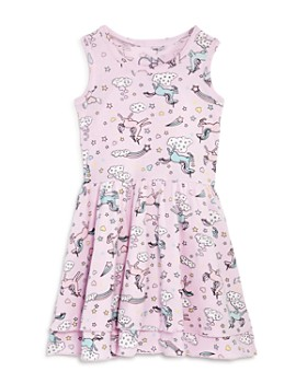 CHASER - Girls' Unicorn Fit-and-Flare Dress - Little Kid