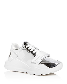 Burberry - Men's Leather Chunky Low-Top Sneakers