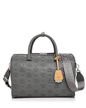 520ecfc9f MCM - Boston Essential Monogrammed Leather Satchel ...
