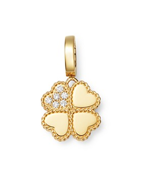 Roberto Coin - 18K Yellow Gold Princess Charm Diamond Clover Charm