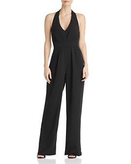 Laundry by Shelli Segal - Wide-Leg Halter Jumpsuit