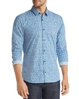 HUGO - Ero Micro-Floral-Print Slim Fit Shirt