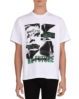 "The Kooples - ""No Future"" Print Cotton Crewneck Tee"