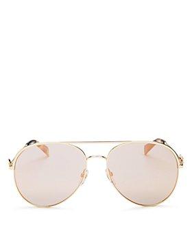 MARC JACOBS - Women's Marc Daisy Brow Bar Aviator Sunglasses, 58mm