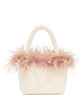 Loeffler Randall - Mina Mini Beaded Feather Tote