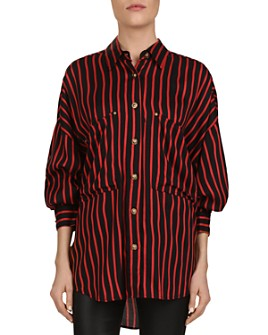 The Kooples - Striped Puff-Sleeve Button-Down Shirt