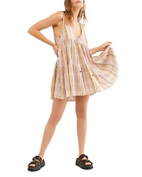 Free People - Freebird Striped Tiered Dress