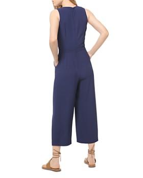 MICHAEL Michael Kors - Belted Wide-Leg Crepe Jumpsuit