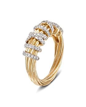 David Yurman - 18K Yellow Gold Helena Small Ring with Diamonds