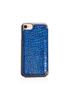 KAREN MILLEN - Snake-Embossed iPhone 7 Folio Case