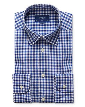 Eton - Bold Gingham Slim Fit Dress Shirt