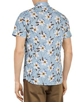 Ted Baker - Baboo Plain Sateen Slim Fit Button-Down Shirt