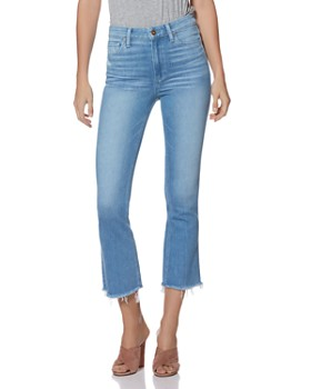 PAIGE - Colette Crop Flared Jeans in Baybreak