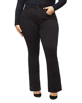 Good American - Good Flare Jeans in Black001
