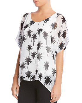 Bailey 44 - Habitat Palm Print Top