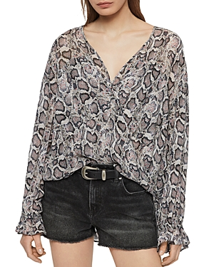 Allsaints Tops PENNY MISRA SNAKE PRINT TOP