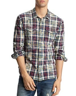 John Varvatos Star USA - Marshall Plaid Slim Fit Western Shirt
