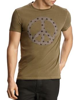 John Varvatos Star USA - Peace Sign Appliqué Tee