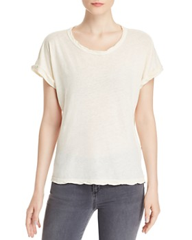 Current/Elliott - The Rolled Twisted-Trim Tee