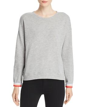5a1b708b0994b1 Velvet by Graham & Spencer - Terry Striped-Cuff Sweatshirt ...