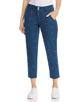 JAG Jeans - Dot-Embroidered Cropped Pants