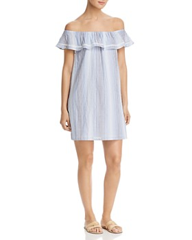 Tommy Bahama - Simona Sands Off-The-Shoulder Striped Dress
