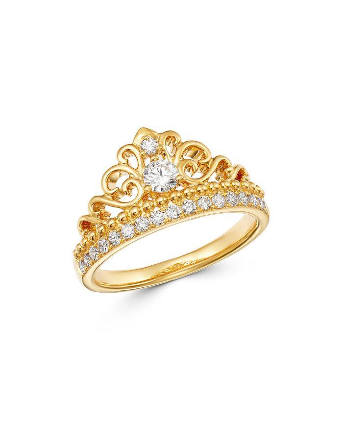 Bloomingdale's - Diamond Milgrain Ring in 14K Yellow Gold, 0.50 ct. t.w. - 100% Exclusive