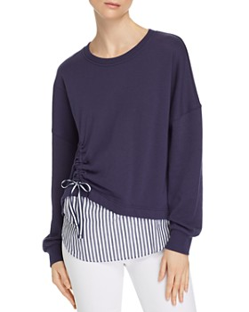 Parker - Darce Ruched Combo Sweatshirt