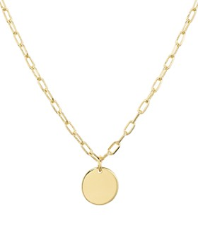 "AQUA - Circle Pendant Necklace, 18"" - 100% Exclusive"