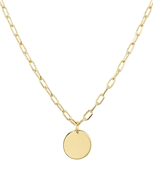 Aqua Circle Pendant Necklace, 18 - 100% Exclusive