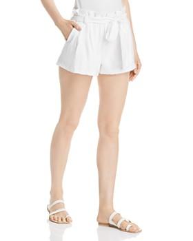 AQUA - Paperbag-Waist Pleated Shorts - 100% Exclusive