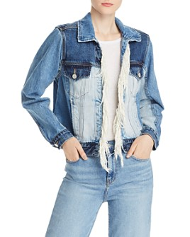 BLANKNYC - Patchwork Fringed Denim Jacket