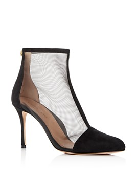 MARION PARKE - Women's Dolby Cap-Toe High-Heel Booties