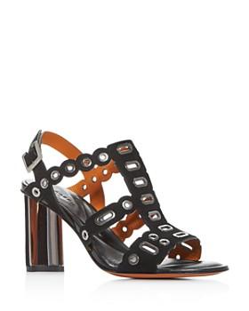 Clergerie - Women's Zelie Block High-Heel Sandals