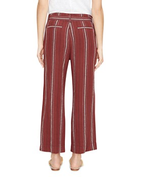 Sanctuary - Inland Striped Wide-Leg Cropped Pants