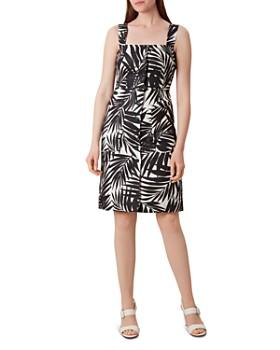 HOBBS LONDON - Harley Palm Print Linen Dress