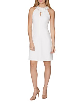 Laundry by Shelli Segal - Embellished Keyhole Dress