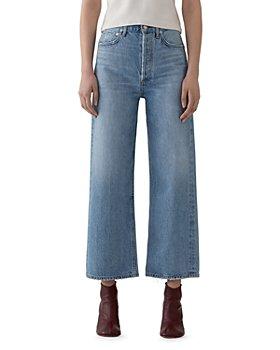 AGOLDE - Blur Ren High-Rise Cropped Wide-Leg Jeans